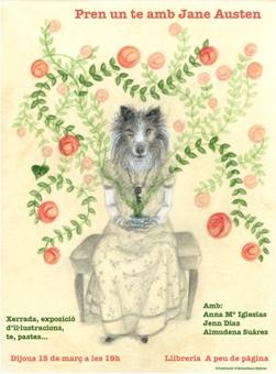 Cartel Un Te con Jane Austen - Pren un te amb Jane Austen